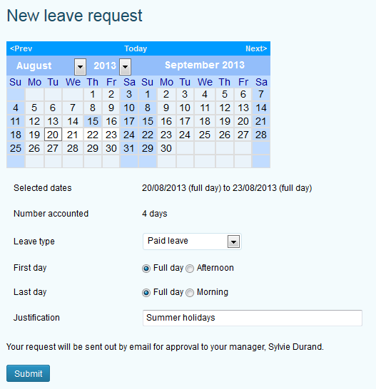leave request